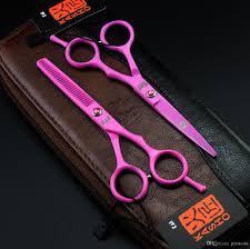 2016 new kasho 5 5 inch titanium hair shears set salon scissors