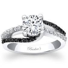 black diamonds rings images Barkevs 14k white gold black diamond swirl engagement ring jpg