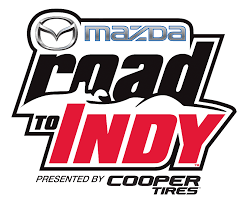 mazda m logo mazda road to indy