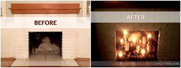 nice design ideas candles in fireplace marvellous photo decoration