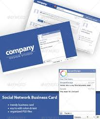 Social Network Business Card Social Network Business Card By Despotdesign Graphicriver