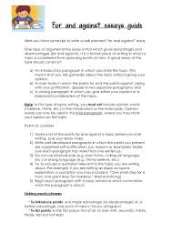 samples of an argumentative essay for and against essays guide