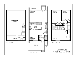 sample floor plans townhouse floor plans at the towers at water u0027s edge