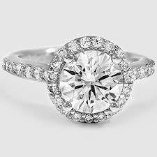 platinum halo engagement rings halo engagement ring brilliant earth