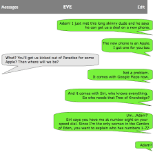 if adam and eve sent texts barb taub