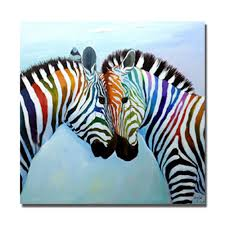aliexpress com buy large size zebra painting no framed or with