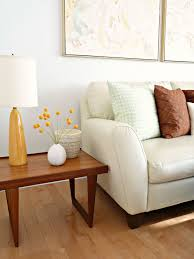 new sofa new living room dans le lakehouse cream leather sofa danish teak side tables