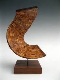 wood sculpture abstract modern