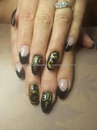 party perfect black and gold nail art ideas chalkboard nails 25