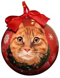 amazon com tabby cat christmas ornament shatter proof ball easy
