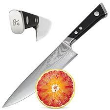 japanese damascus kitchen knives amazon com japanese damascus steel chef knife by nourish ultra
