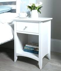 white circular bedside table gloss round side small size of