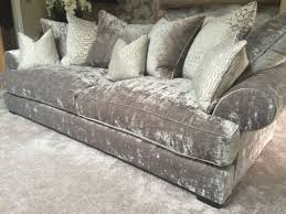 Curved Settees And Sofas by Sofas Wonderful Crushed Velvet Corner Couch Silver Crushed