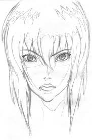 ghost in the shell sketch by generallyinsane on deviantart