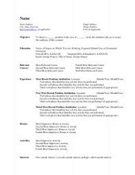 Government Resumes Resume Template Resumes For Jobs Government Sample Format Job