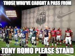 Romo Interception Meme - tony romo imgflip