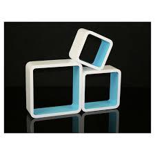 wandregal design cube retro design wandregal 3er set quadratisch regale