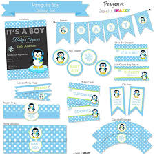 penguin baby shower penguin baby shower party supplies archives baby shower diy