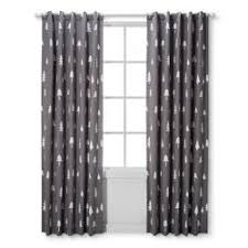 Curtains With Trees On Them Light Blocking Curtain Panel Plus Cloud Island Black White
