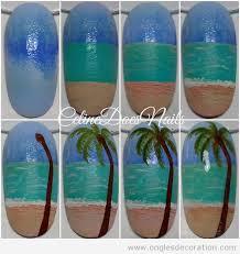 palmier décoration d u0027ongles nail art