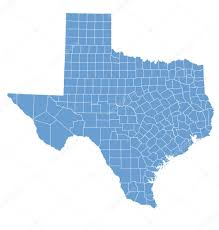 State Map Of Texas by State Map Of Texas By Counties U2014 Stock Vector Deskcube 10792665