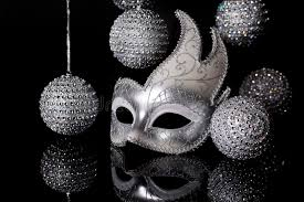 silver mask silver mask with ornaments stock photo image of shine