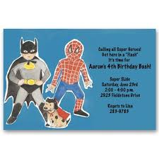 superhero batman spiderman birthday invitations baby cachet