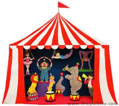 circus puppets circus diorama and circus puppet theater craft kids crafts