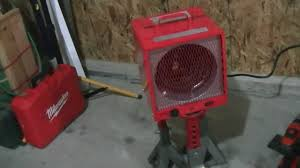 wall mount garage heater how i heat my garage with an electric 240 garage heater youtube