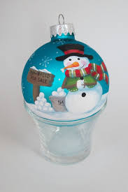 hand painted christmas ornament snowman craft projects