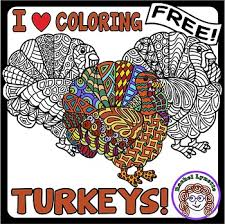 turkeys to color great for thanksgiving or anytime in autumn free