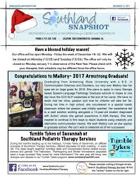 december newsletter happy holidays southland therapy services inc