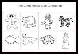 gingerbread man characters printable preschool
