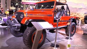 sema jeep 2016 1966 jeep wrangler cj jeep cj66 walkaround sema 2016 youtube