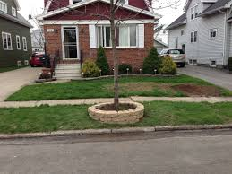 Elevated Front Yard Landscaping - raising soil level around tree gardening u0026 landscaping stack