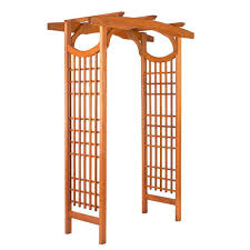 arbor wood arbors u0026 trellises garden center the home depot