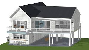 narrow waterfront house plans narrow beach house plans onings floor stilts southern living small