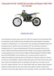 kawasaki kx125 kx250 service manual repair 19 by silkeschafer issuu