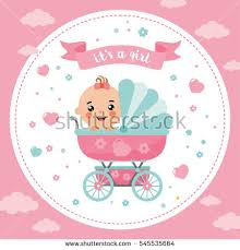 baby girl cards baby girl card stock images royalty free images vectors
