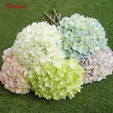 silk hydrangea 228 petals flower artificial hydrangea diy silk hydrangea