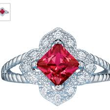 ruby rings sale images Best sterling silver simulated ruby ring for sale in markham png