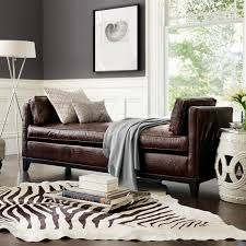 stenciled zebra hair on hide rug chocolate williams sonoma