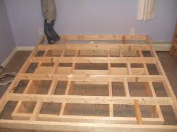 Platform Bed Project Plans by Download Make A Bed Monstermathclub Com