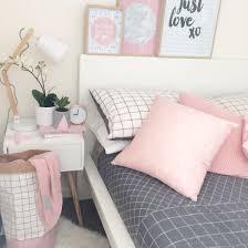 my bedroom pink grid timber scandi grey decoracion cute pink and grey bedroom ideas