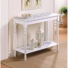 Distressed Sofa Table by Carved Top Distressed White Chic Shabby Wood Sofa Console Entry