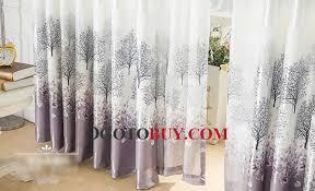grey tree natural design vintage window curtains buy gray print