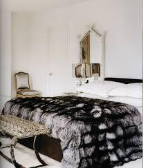 Cheap Faux Fur Blanket Faux Fur Bedspread Coverlets Kings Size Gray Silver Black Bedding