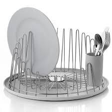 Dish Drainers Umbra Basin Dish Rack Red Kitchen Dish Drainer