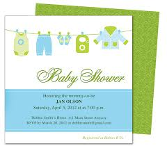clothesline baby shower template invitation edit yourself with