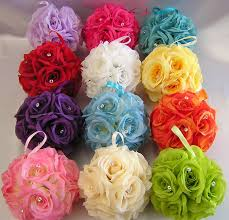 flower balls flower balls for wedding 6 wedding balls pomander pew
